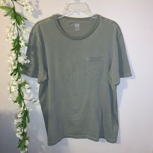 Green oversized tee size L Gap